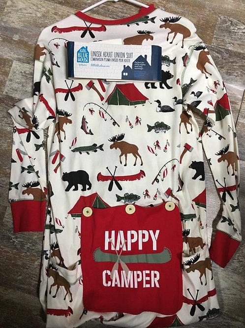 Adult Union Suit-Happy Camper