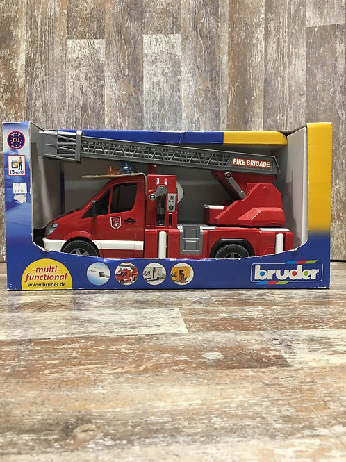 1:16 Plastic Firefighters Firetruck with Replaceable Parts by Bruder