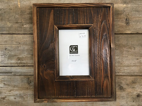 """11.25"""" x 9.25"""" 4x6 Hanging or Standing Wooden Photo Frame by GiftCraft"""