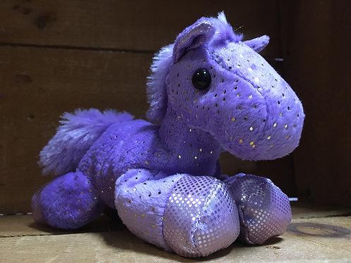 "7"" Purple Fantasy Pony Aurora Brand Plush Stuffed Animal"