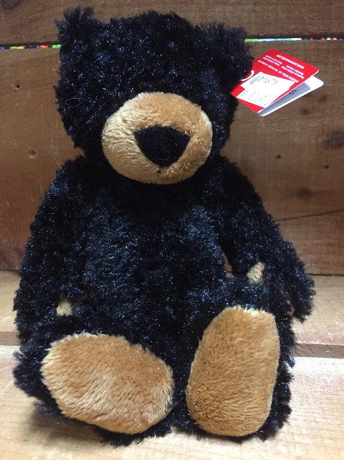 """6"""" Black Slouchee Bear Plush Stuffed Animal"""