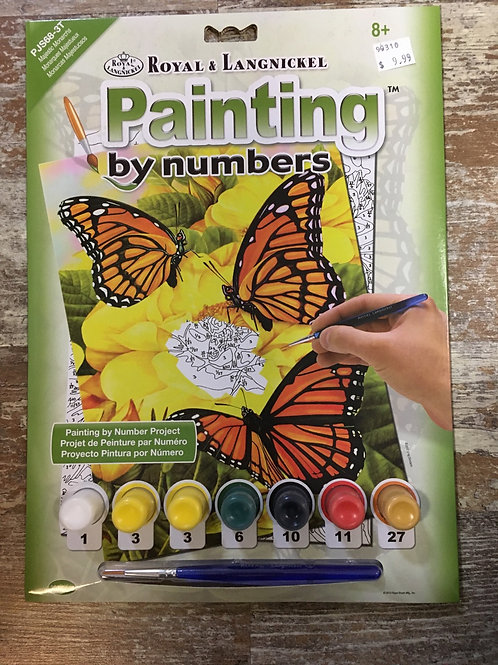 MONARCH BUTTERFLY Royal & Langnickel Painting By Numbers
