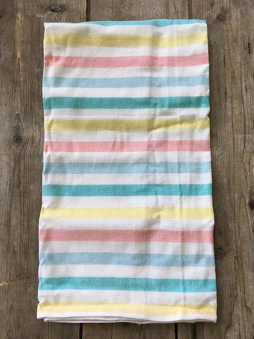 "Wide Pastel Stripe Pick a Pattern 26"" x 18"" 100% Cotton Tea Towel by Now Designs"