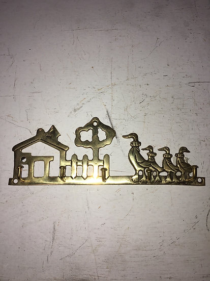 Cast Iron Gold Key Rack