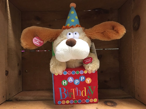 Happy Birthday Dog Singing Cuddle Barn Plush Stuffed Animal