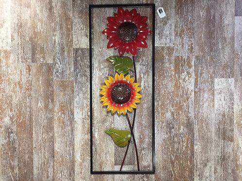 """31.5 """" x 12"""" Sunflower Metal Wall Decor"""