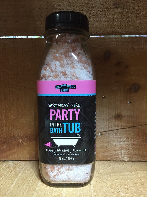 "Birthday Girl Party in the Bath Tub"" 16 oz Bath Salts by Walton Wood Farms"