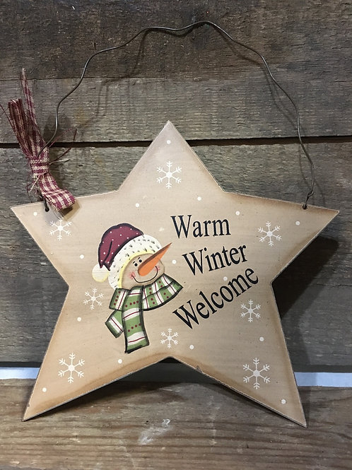 """""""Warm Winter Welcome"""" Wooden Sign"""