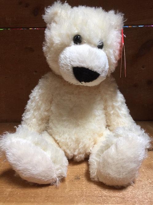 """6"""" White Slouchee Bear Plush Stuffed Animal"""