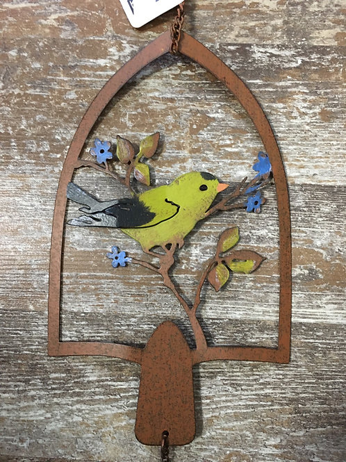 """Yellow Bird 28"""" Metal Windchime by Koppers Imports"""