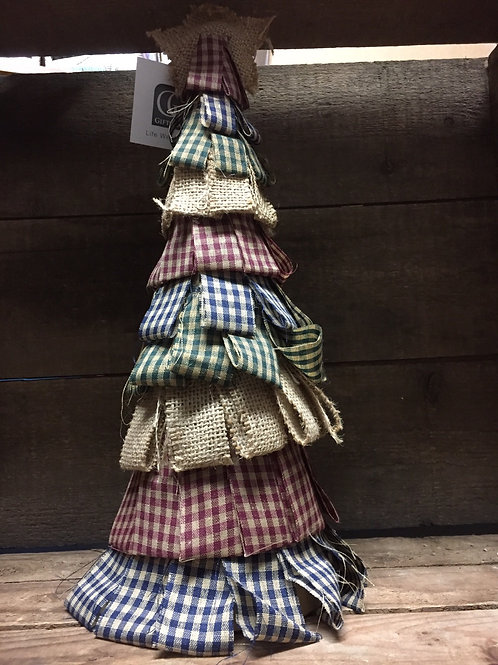 "14"" Fabric and Cardboard Tree"