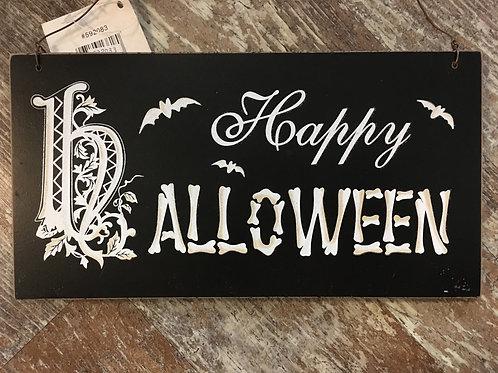 """Happy Halloween"" 9.5"" x 5"" Halloween Wood Sign"