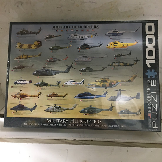 1000 Pc Eurographics Puzzle- Military Helicopters