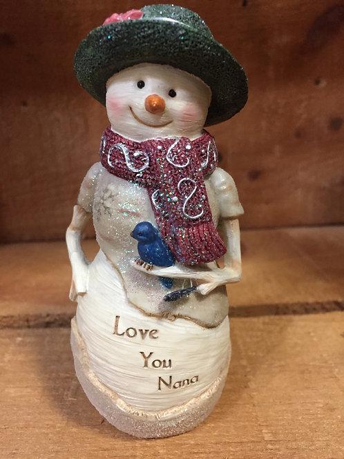 """Love You Nana"" Snowman Christmas Figurine"