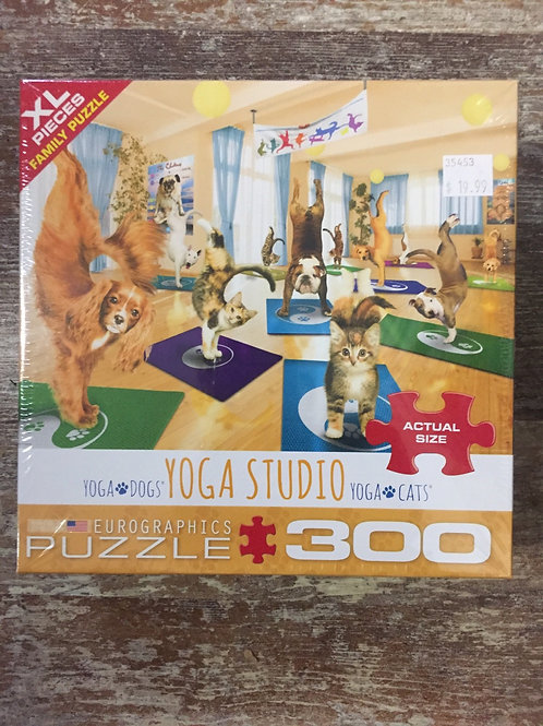 Yoga Cats and Yoga Dogs Yoga Studio - 300 pc Eurographics Puzzle