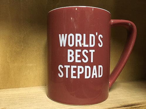 """World's Best Stepdad"" Ceramic Mug - Final Sale"