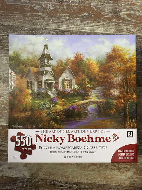 Autumn Worship The Art of Nicky Boehme 550 Piece Puzzle