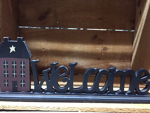 """Welcome Standing Sign - 15"""" x 5.5"""""""