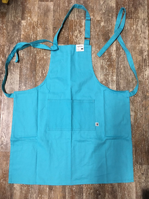 Bali Blue 100% Cotton Chef's Apron with Front Pocket by Now Designs