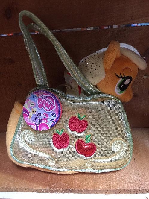 "8"" Applejack My Little Pony in a Purse Aurora Brand Plush Stuffed Animal"
