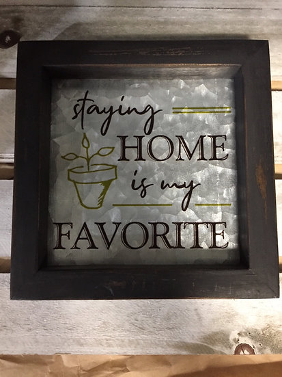 Wood Framed Sign