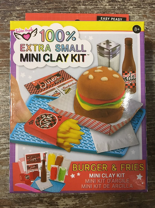 100% Extra Small Burger and Fries Mini Clay Kit by Fashion Angels Enterprises