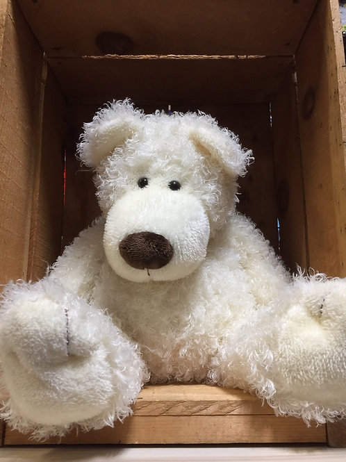 "12"" White Bear Plush Stuffed Animal"
