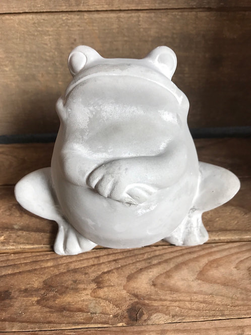 """6.5"""" x 6"""" x 4"""" Solid Concrete Frog Garden Statue by Young's Inc"""