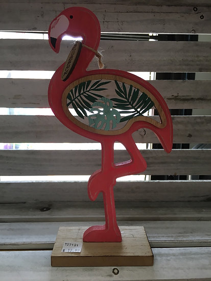 Wooden Flamingo Cutout