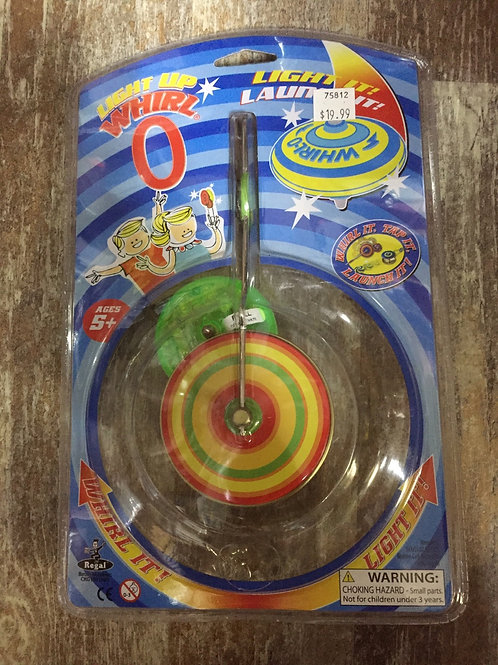 Red, Yellow, and Green Light Up Whirl-O Toy