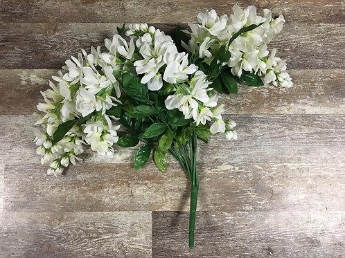 """White 16"""" Faux Floral Arrangement"""