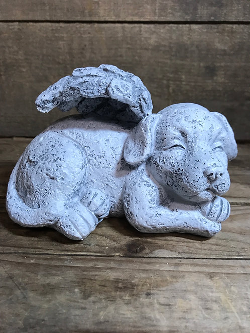 """5.5"""" x 4"""" x 4"""" Resin Dog with Wings by Koppers Imports"""