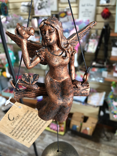 """17.5"""" Resin Angel Wind Chime by Carson Home Accents"""