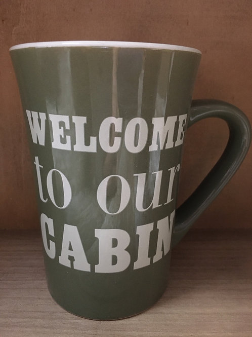 """""""Welcome to Our Cabin"""" Ceramic Mug"""