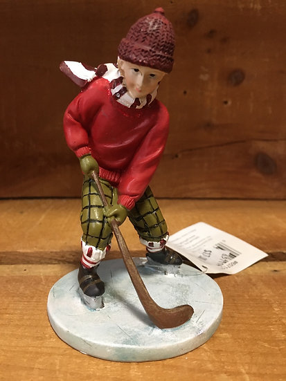Boy Hockey Figurine