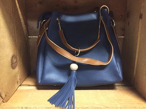 Avenue 9 Blue Bucket Bag
