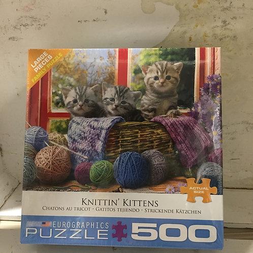 Knitten Kittens -500pc Puzzle