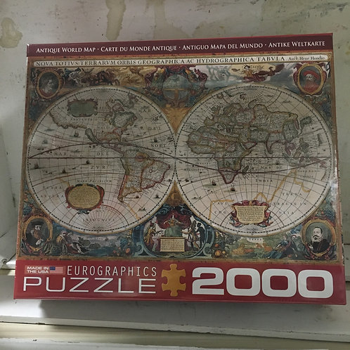Antique World Map- 2000pc Eurographics Puzzle