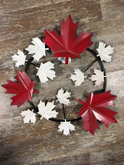 Metal Leaf Wreath