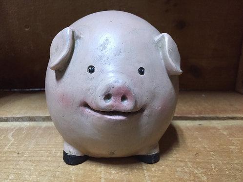 "4"" Round Pig Figurine"