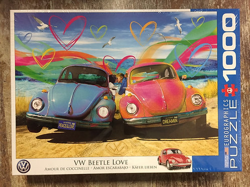 VW Beetle Love Officially Licensed 1000 Piece Eurographics Puzzle