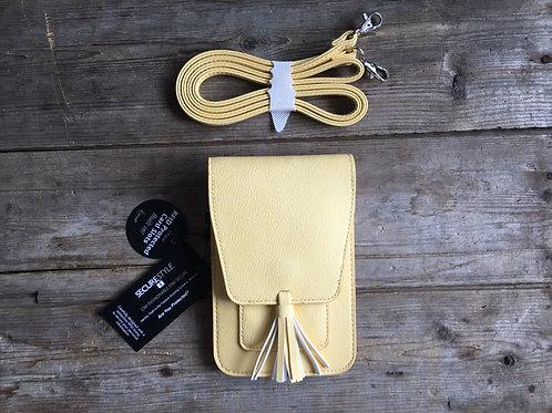 "Yellow 7"" x 4.5"" Vegan Purse K. Carroll Harper Bag with Strap Crossbody"