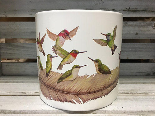 "6.25"" x 6.25"" x 6"" Birds of a Feather Clay Planter by Abbott"