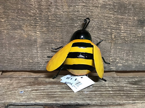 """2"""" x 3"""" x 4"""" Small Metal Bee with Hook by Frans Koppers"""
