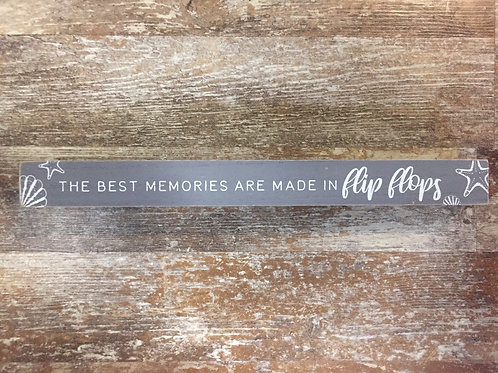 """""""The Best Memories are Made in Flip Flops"""" 15"""" Photo Bar by Carson Home Accents"""