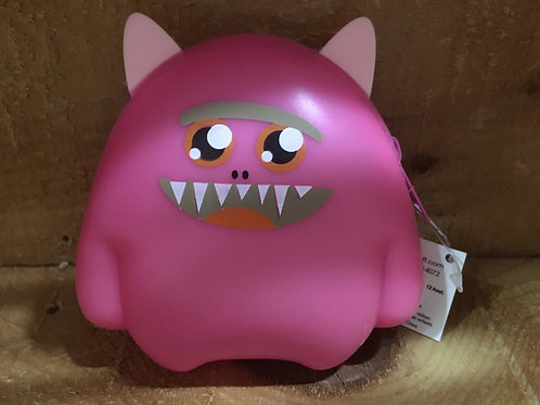 Fushia Pink Monster Silicone Coin Purse