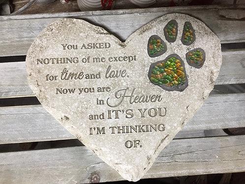 Pet Memorial Stepping Stone