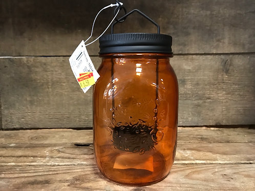 """5.5"""" x 3"""" x 3"""" 500 ml Mason Jar Hanging Tealight Holder on 9"""" Chain by Koppers"""