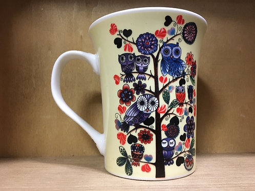 Owl Pattern Ceramic Mug