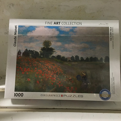 1000 Pc Eurographics Puzzle -The Poppy Field by Monet